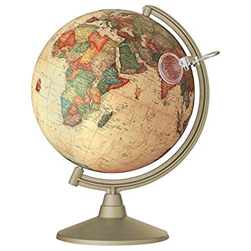 Preciosa bola del mundo vintage con lupa
