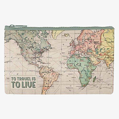 Estuche con mapa de mundo para guardar todo tipo de cosas